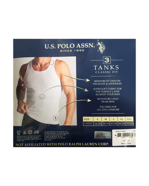 3 Pack Classic Fit Tank Top - White