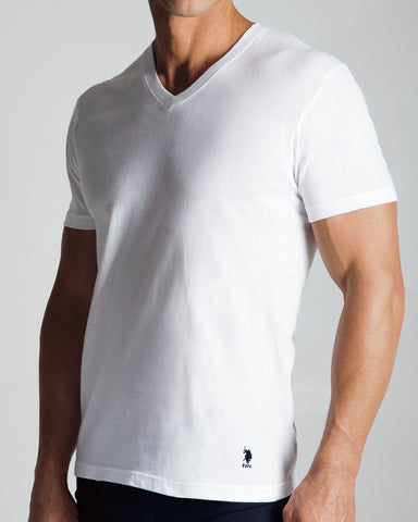 3 Pack V-Neck T-Shirt - White