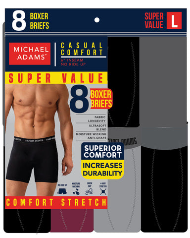 8 Pack Boxer Briefs - Multi-VIM.COM