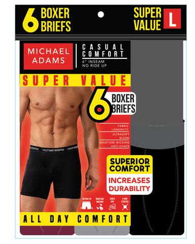6 Pack Boxer Briefs - Multi-VIM.COM