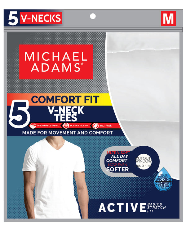 5 Pack V-Neck T-Shirts - White