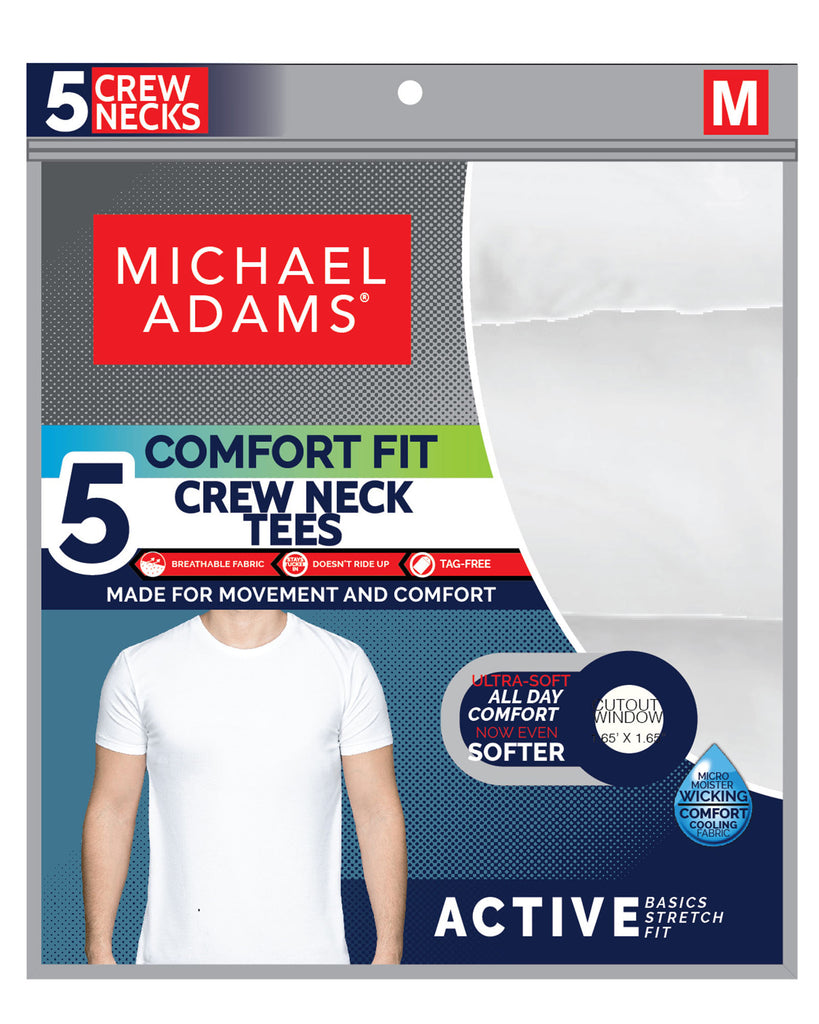 5 Pack Crew Neck T-Shirts - White