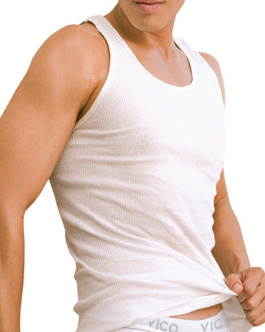 6 Pack Ribbed Tank Tops - White-VIM.COM