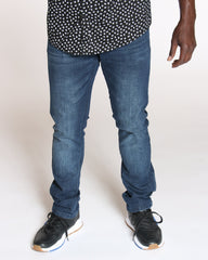 VIM Embroidered Pocket Skinny Fit Jean - Blue - Vim.com