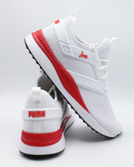 PUMA Men'S Pacer Next Excel Sneaker - White Red - Vim.com