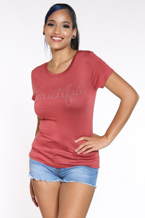Women's Beautiful Stones Tee - Brick-VIM.COM