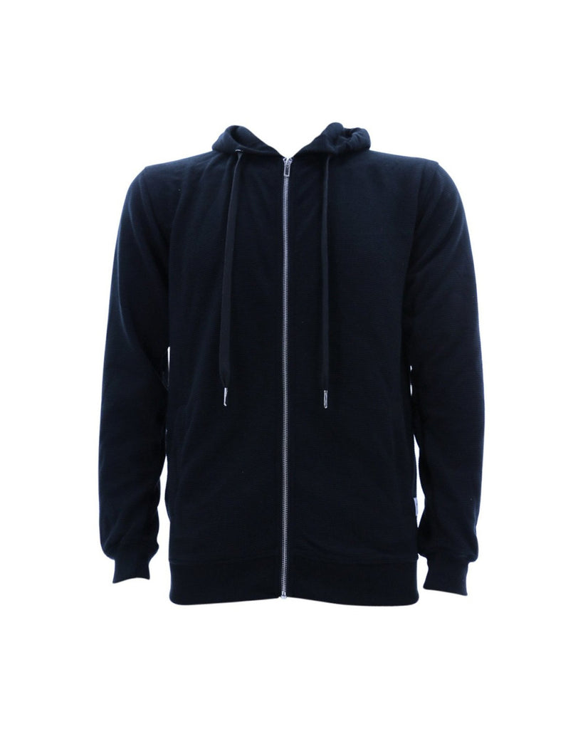 Men'S Ribbed Full Zip Hoodie