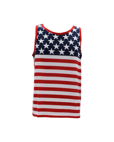 Men'S American Flag Tank Tops