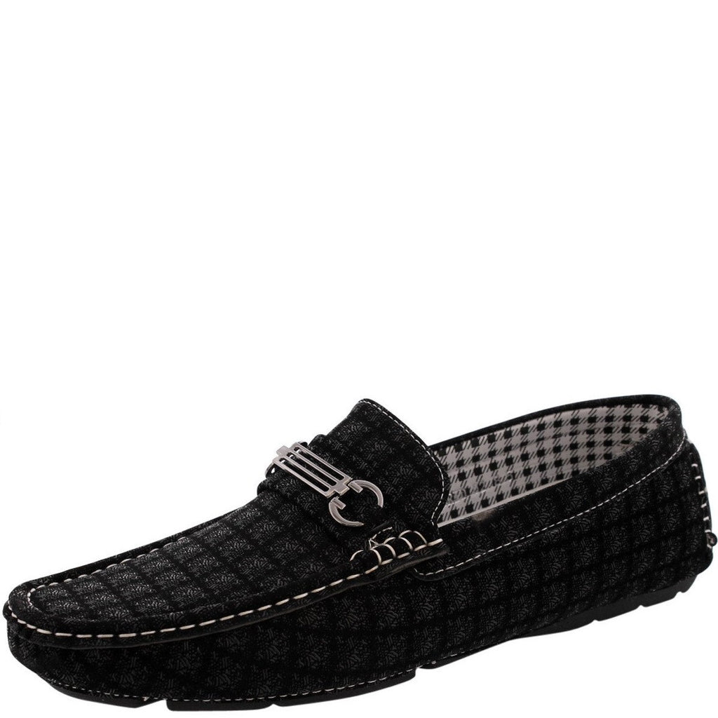 Men'S Plaid Print Buckle Driving Shoes