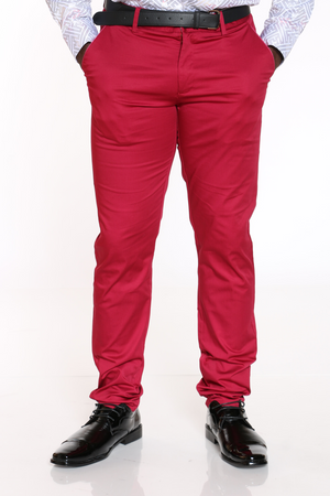 Men's Chino Modern Fit Pant - Berry-VIM.COM