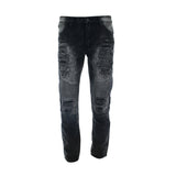 Gray Earth - Men's Moto Rips Zip Pocket Jean - Black - V.I.M. - 1