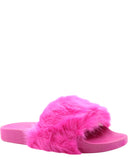 Girl's Beautiful Rio-66K Fur Open Toe Slippers/Slides/Sandals - V.I.M. - 1