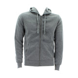 Floose - Men's Basic Fleece Hoodie 220 Gsm Sweatshirt - Heather Grey - V.I.M. - 1