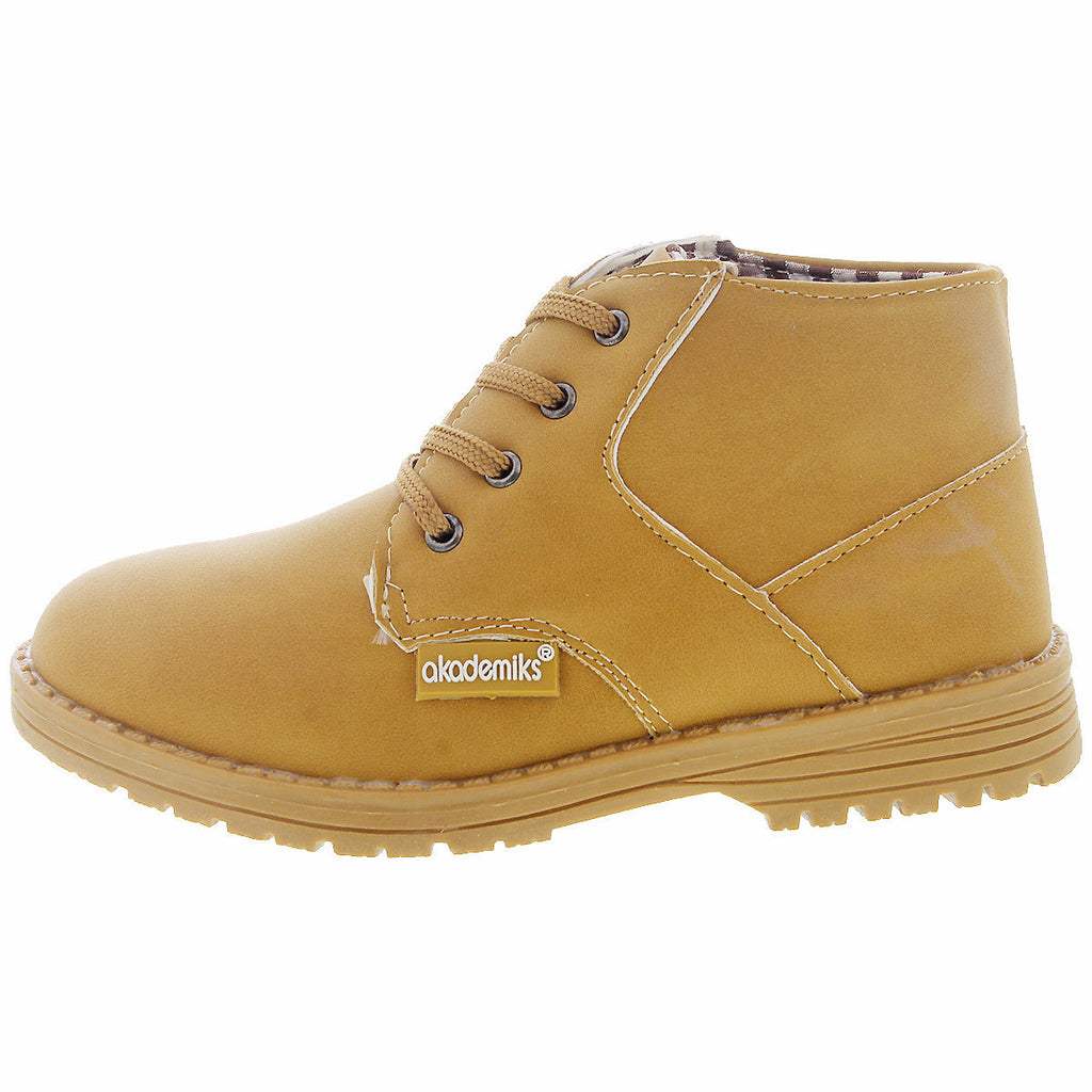 Akademiks - Terry 01 Mid Chukka Boot (Little Kid) - Wheat - V.I.M. - 2
