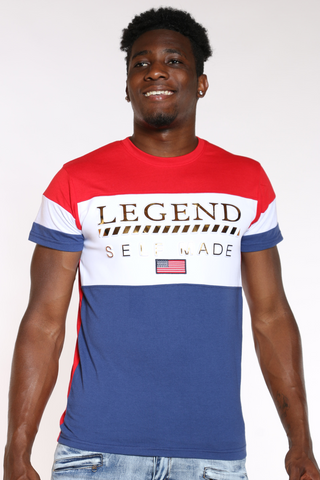 Men's Legend Self Made Color Block Tee - Red