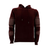 Floose - Men's F.Terry Biker Hoodie Rips Sweatshirt - Burgundy - V.I.M. - 1
