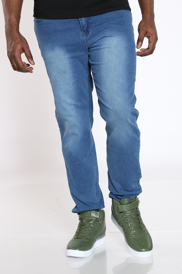 Men's Slim Straight Classic Jean - Blue-VIM.COM