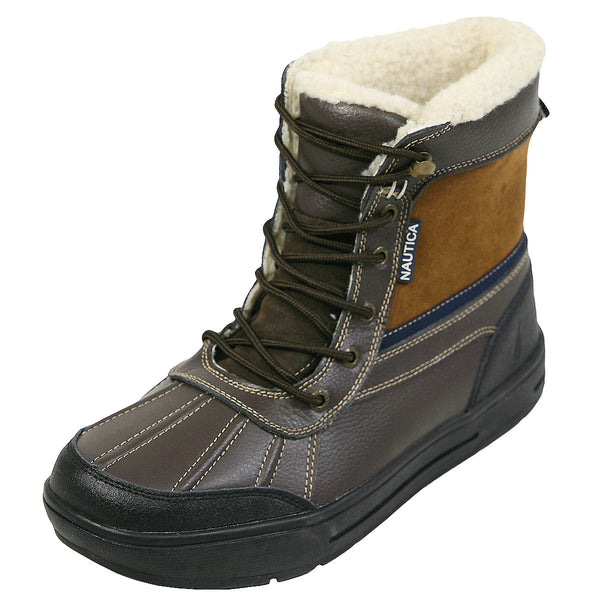 Nautica - Men's Luckview Winter Duck Boots - Brown - V.I.M. - 1