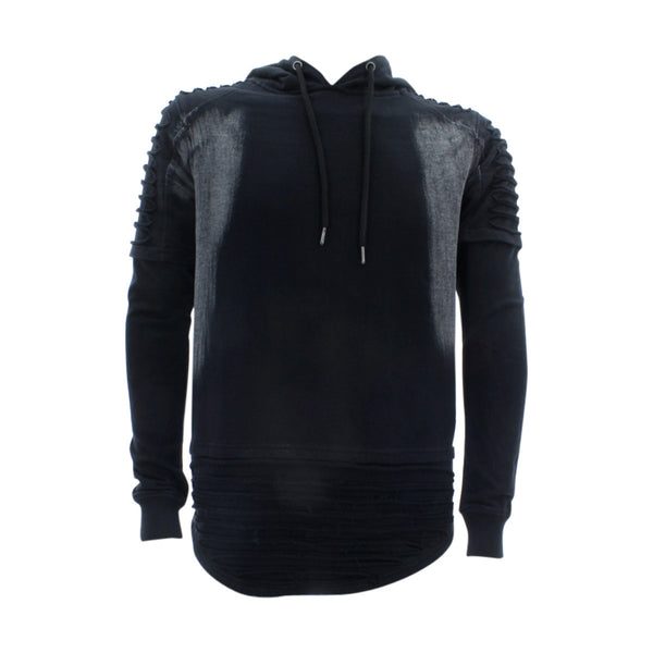 Floose - Men's F.Terry Scallop Hood With Zip Shirt - Black - V.I.M. - 1
