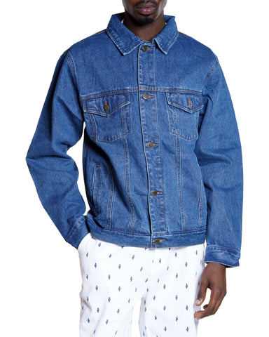 Men's Denim Jacket - Stone-VIM.COM