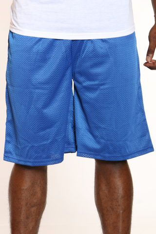 Men's Solid Heavy Mesh Short - Royal-VIM.COM