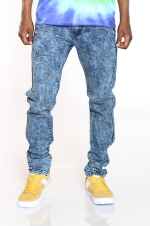 Men's Cloud 5 Pocket Stretch Jean - Blue-VIM.COM