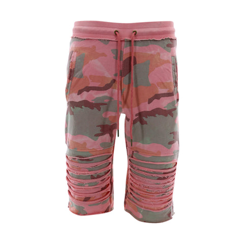 Skazi New York - Men's French Terry Shorts - Blush/Camouflage