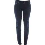 Azazel - Women's Basic Color Stretch Jeans - Navy Blue - V.I.M. - 1