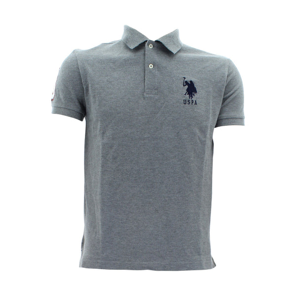 U.S. Polo Assn. - Men's Slim Fit Stripe Collar Us Polo - Grey - V.I.M. - 1