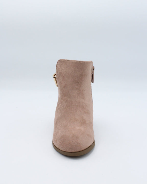 VIM Girls One Buckle Side Zipper Bootie - Mauve - Vim.com