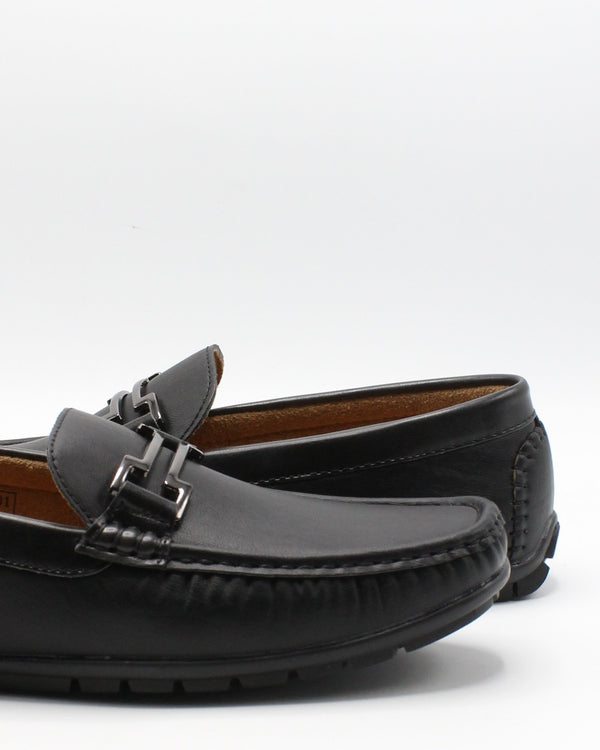 VIM Men'S Driving Buckle Shoe - Black - Vim.com