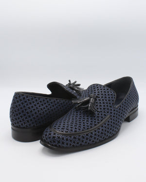 VIM Men'S Toggle Weave Dress Shoe - Navy - Vim.com