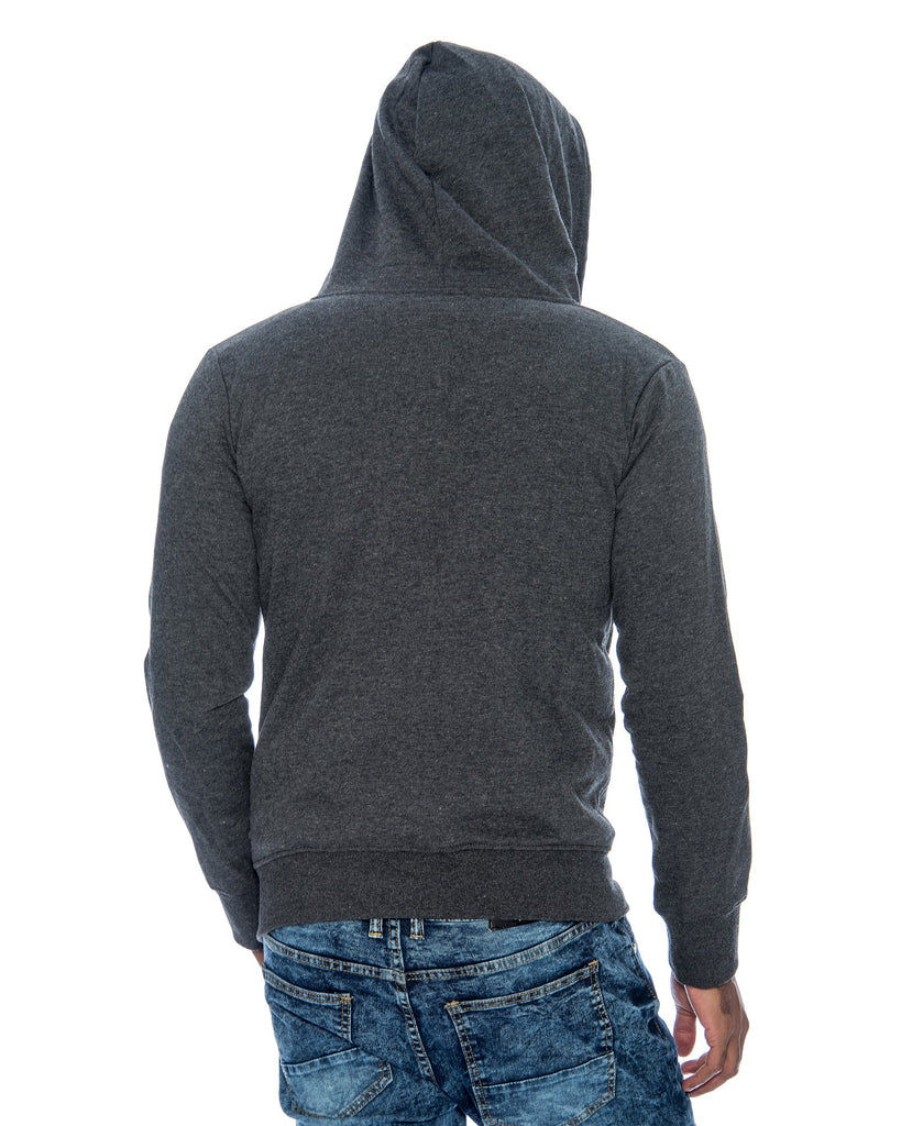 VIM Basic Hoodie Fleece Fabric Sweatshirt - Charcoal - Vim.com