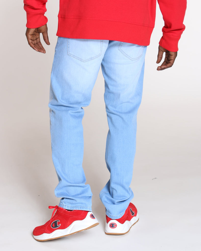 VIM Relaxed Fit Embroidered Pocket Jean - Light Blue - Vim.com