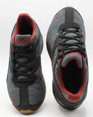 PUMA Tazon 6 Heather Rip Sneaker (Little Kid) - Grey Black - Vim.com