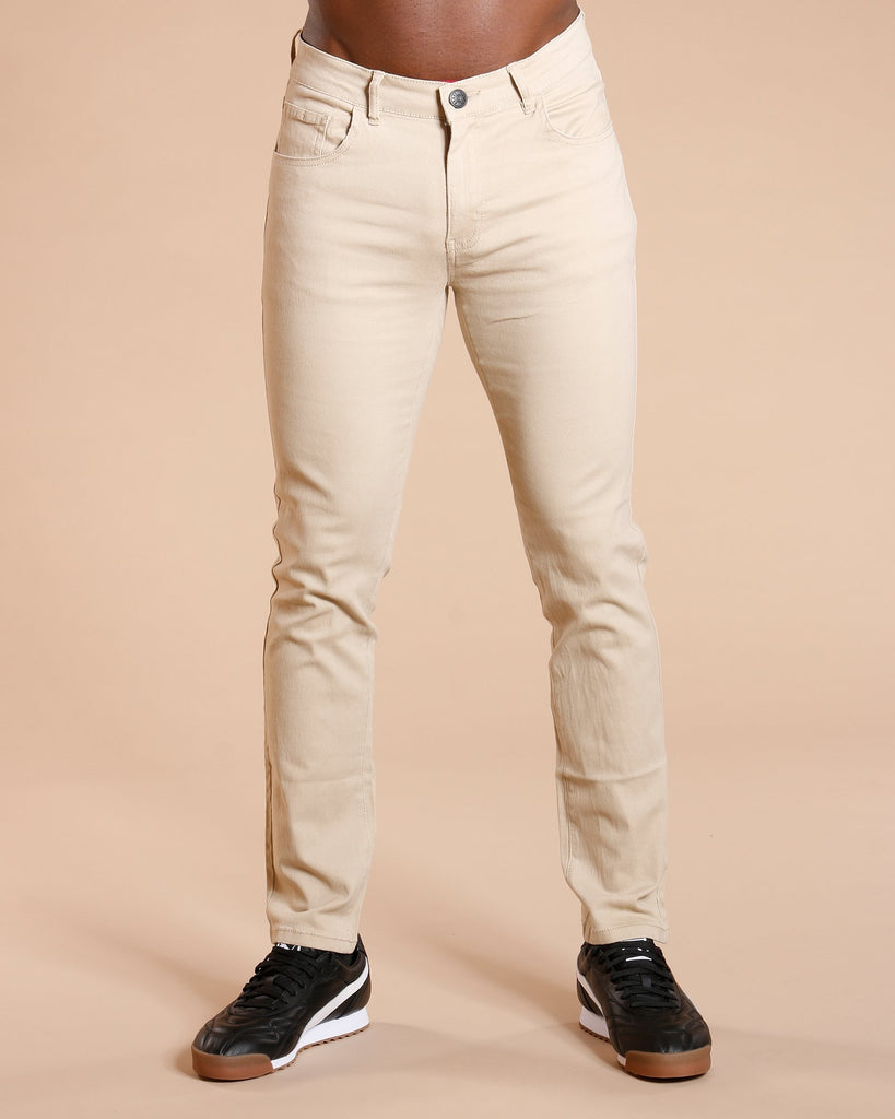 VIM Men'S Basic Five Pocket Twill Pants - Khaki - Vim.com