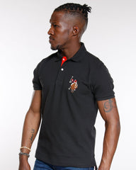 U.S. POLO ASSN. Multi Color Pony Polo Shirt - Black - Vim.com