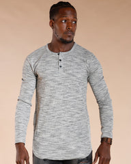 VIM Men'S Long Sleeve Space Dye Thermal Henley - Vim.com