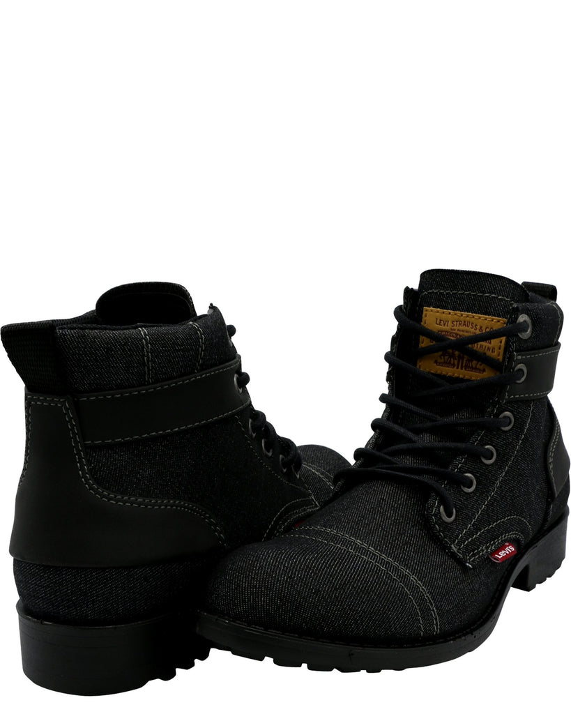LEVI'S Men'S Artesia Denim Ul Boot - Black - Vim.com
