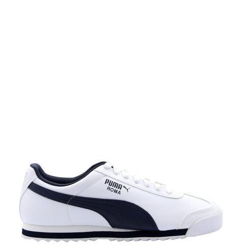 PUMA-Men's Roma Basic Sneaker - White Navy-VIM.COM