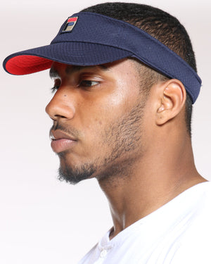 FILA Fila Visor Adjustable Hat - Navy - Vim.com