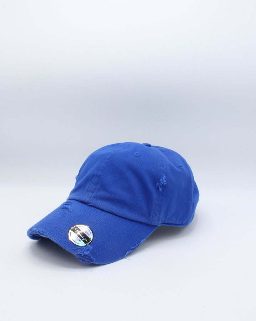 VIM Distressed Dad Hat - Royal - Vim.com