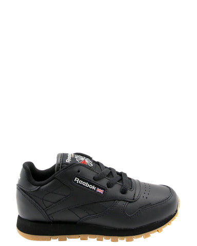 REEBOK-Classic Leather Low Top Sneaker (Toddler) - Black-VIM.COM