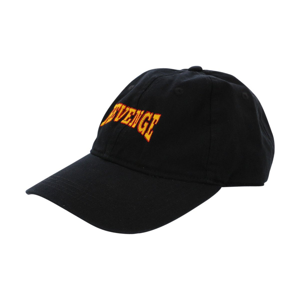 VIM Orange Letter Revenge Dad Cap - Black - Vim.com