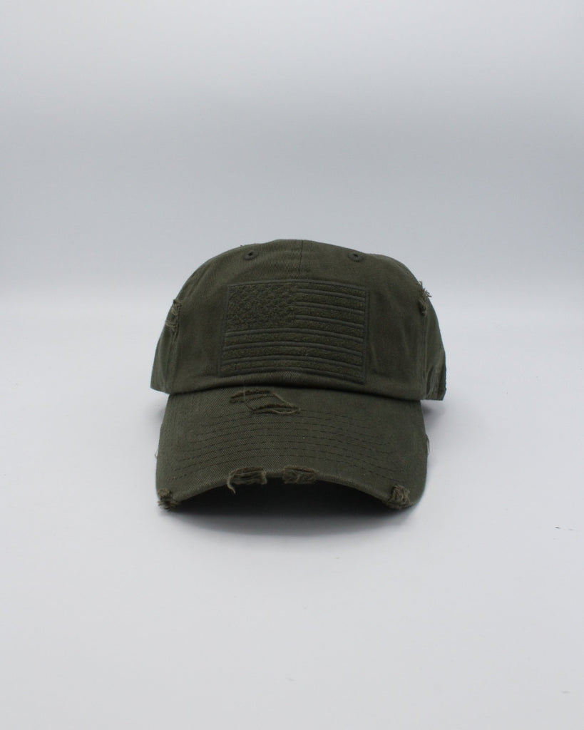 VIM Distressed Flag Dad Hat (Available In 5 Colors) - Vim.com