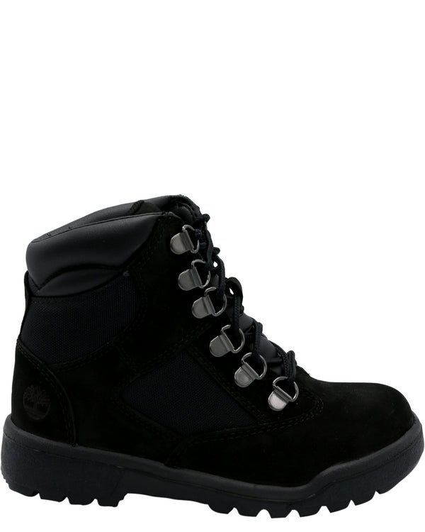 TIMBERLAND-6-Inch Field Boot (Pre School) - Black-VIM.COM