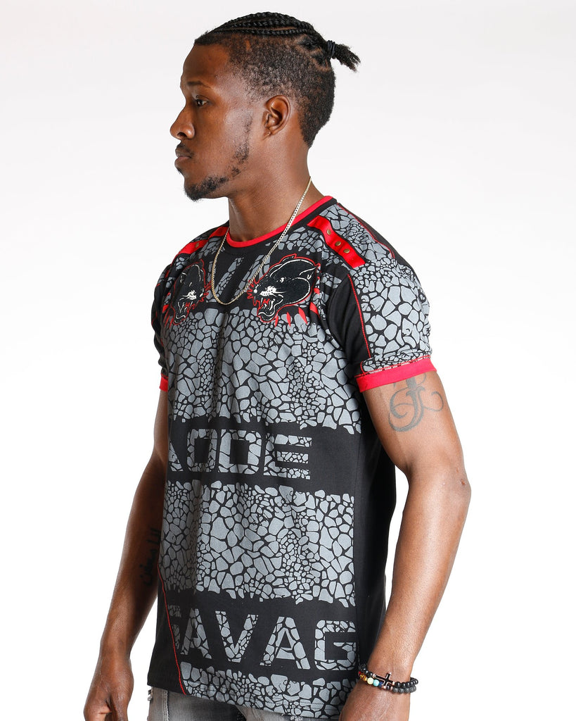 VIM Mode Panther Patches Studs Tee - Black - Vim.com