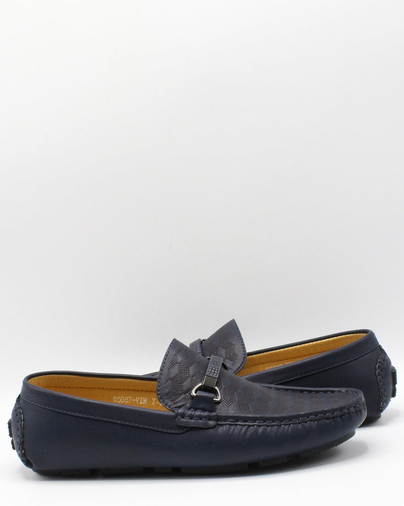 VIM Men'S Driving Buckle Tan - Navy - Vim.com