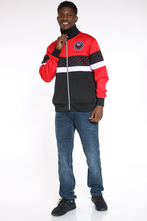 Men's Scuba Colorblock Track Jacket - Red Black