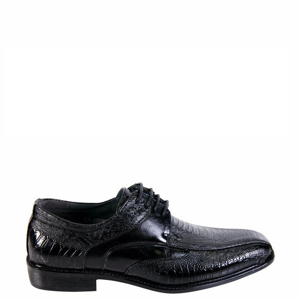 Parrazo Men'S  Lace Up Cro Dressy Shoes - Black - Vim.com